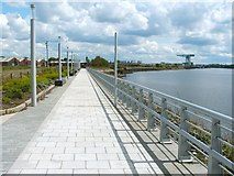 NS4870 : Walkway beside the River Clyde by Lairich Rig