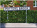 TM2763 : Potters Brook sign by Adrian Cable