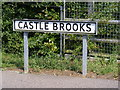 TM2863 : Castle Brooks sign by Adrian Cable