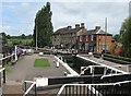 SP7449 : The top lock at Stoke Bruerne by M J Richardson
