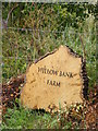 TG0425 : Willow Bank Farm sign by Adrian Cable