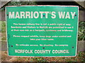 TG0523 : Marriot's Way Sign by Adrian Cable