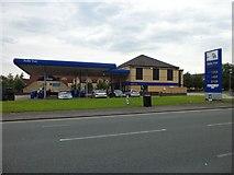 SJ8796 : Belle Vue petrol station by Stephen Sweeney