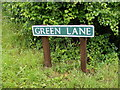 TG0424 : Green Lane sign by Adrian Cable