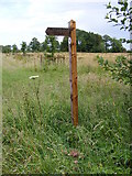 TG0424 : Restricted Byway sign at Keeling Hall by Adrian Cable