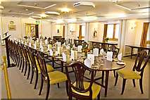 NT2677 : Royal Yacht Britannia, state dining room by Alan Findlay