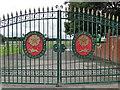 SJ5997 : Haydock Park gates by Tim Evans