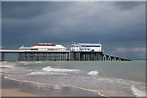 TG2142 : The end of the pier at Cromer by Peter Facey
