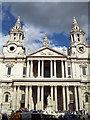 TQ3181 : West Front, St. Paul's Cathedral by nick macneill