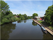 SO8455 : River Severn view, Worcester by kevin skidmore