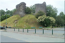 SN7634 : Remains of Llandovery Castle by Jaggery