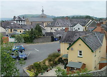 SN7634 : Central Llandovery viewed from the castle mound by Jaggery