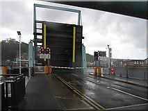 ST1972 : Rolling bascule bridge no.2 in Cardiff bay barrage by Rudi Winter