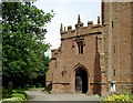 SO7993 : All Saints Church entrance in Claverley, Shropshire by Roger  Kidd