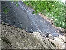 NY2824 : Rock netting under the viaduct by Stephen Craven