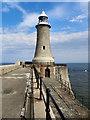 NZ3869 : Tynemouth Lighthouse by David Dixon