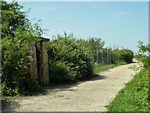 TQ6973 : Sentry box on road to Shornemead Fort by Robin Webster