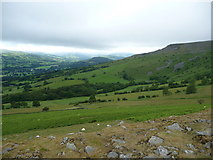 SO2220 : Part of Pen Cerrig Calch from Crug Hywel by Jeremy Bolwell