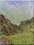 NY2114 : Honister pass road from Black star. by steven ruffles