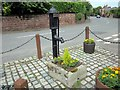 SJ4768 : Great Barrow village pump by Jeff Buck
