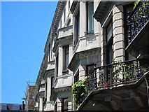 TQ2779 : Balconies on Ennismore Gardens by Oast House Archive
