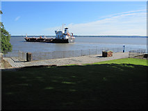 SJ3681 : Eastham Ferry jetty and the Lilac chemical tanker by John S Turner