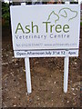 TL7066 : Ash Tree Veterinary Centre sign by Adrian Cable