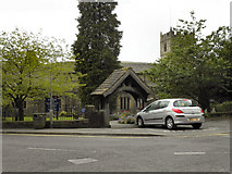 SD6592 : Parish Church and Lychgate, Sedbergh by David Dixon