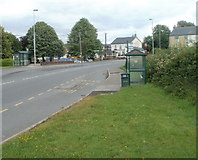 SO3204 : Penperlleni bus stops by Jaggery