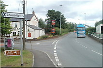SO3204 : Incorrect distance shown to Chainbridge from the A4042, Penperlleni by Jaggery
