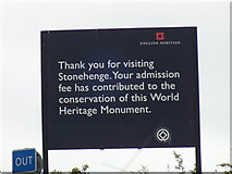 SU1242 : English Heritage sign by Raymond Cubberley