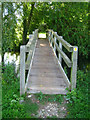 SU6759 : Footbridge over river Loddon by Sandy B