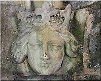 SO7845 : Crowned head, Great Malvern Railway Station by Bob Embleton