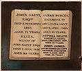 TQ5337 : St John the Evangelist, Groombridge - Wall monument by John Salmon