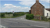 SJ5608 : B4390 at the junction of the B4380 near Wroxeter Roman City by John Fielding