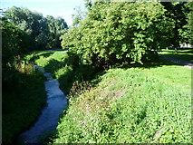 TQ4667 : The River Cray in Riverside Gardens by Marathon