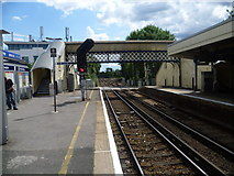 TQ1572 : View from southbound platform at Strawberry Hill by Marathon