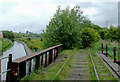 SJ9050 : Disused railway and canal near Milton, Stoke-on-Trent by Roger  Kidd