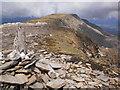 NN1972 : Aonach Beag summit cairn - towards Aonach Mor by Peter S