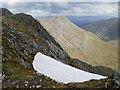 NN1971 : Snow cornice below Aonach Beag (from the bealach) by Peter S