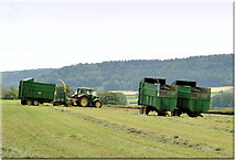 SO4449 : Silage making - Court Farm by Philip Pankhurst