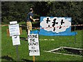 SO3689 : Bishop's Castle Stone Skimming Championship - sideshow by Penny Mayes