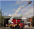 J3774 : Fire appliance - turntable ladder, Belfast (1) by Albert Bridge