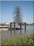 TQ3980 : Antony Gormley's 'Quantum Cloud' sculpture by Rod Allday