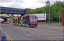 SO9297 : Midland Metro tram no. 06 in Bilston Road, Wolverhampton by P L Chadwick