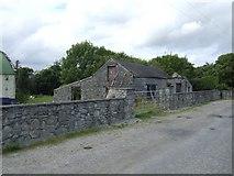 R8788 : Farm buildings opposite J Ryan's Bar by John M