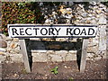 TG0127 : Rectory Road sign by Adrian Cable