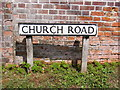TG0127 : Church Road sign by Adrian Cable