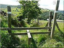 SE0125 : The top of Long Lane, , Hebden Royd Footpath 62, Mytholmroyd by Humphrey Bolton