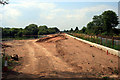 SK5235 : Flood alleviation works continue on a sunny day by David Lally